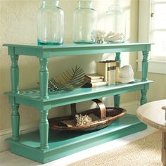 Sofa table love. dining rooms, sofa tables, coffee tables, buffet, open shelves, painted tables, colors, paints, console tables