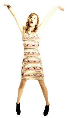 Free basic knit dress pattern.  Ideal to use as a sloper to create lots of different looks