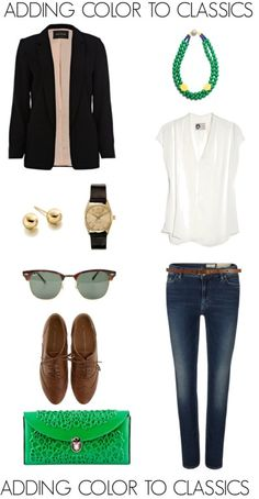 ADDING COLOR TO CLASSICS,kelly green, oxfords, simple fashion, classic style, menswear watch, jeans, style 2012, 2013, preppy fashion, timeless style