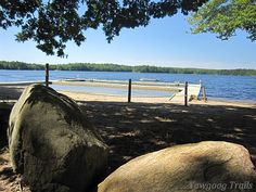 Camp Sandy Beach Waterfront on The Beachgoer hike at Camp #Yawgoog.  A 2014 image by David R. Brierley.