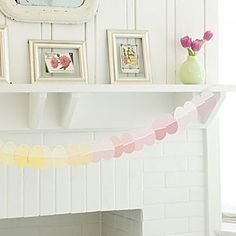 How to make paint chip Easter garland.