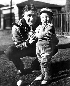 Baseball Hall of Famer Fred Lindstrom and his son. (1936) | Florida Memory