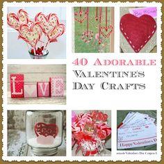 40 Valentine's Day Crafts valentine crafts, 40 valentin, valentine day crafts, valentin craft, children, child crafts, valentinesday craft, craft ideas, kid