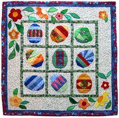 Ostereiersuche.  Cute ides for Easter quilt