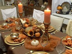 vintage farmhouse - fall table decorations