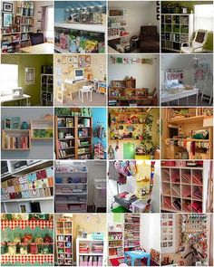 Lots of craft room ideas