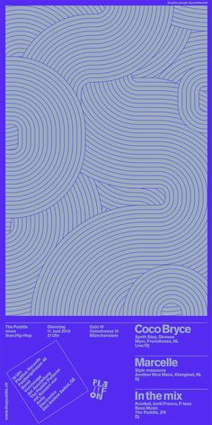 Andreas Gysin + Sidi Vanetti - The Puddle poster series