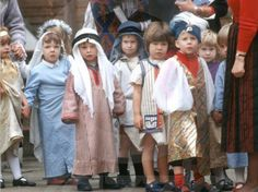 Prince Harry at his nursery school Nativity play at Mrs Mynor's, London, England 1988