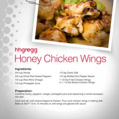 Love to order wings for your tailgating parties? Impress all of your football loving friends by making your own Honey Chicken Wings with our original recipe