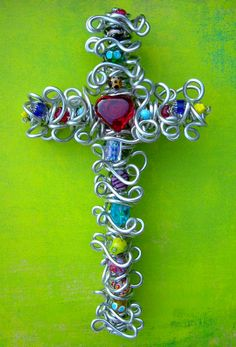 color, heart wall, wall crosses, red heart, beads, artsi bead, decorative walls, bead red, friend
