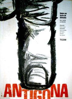 Afiche para obra de teatro.