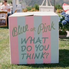 Blue or pink what do