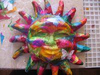 Paper Mache Colorful Sun