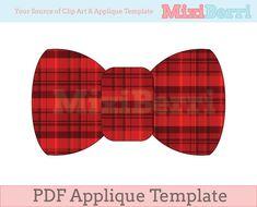 Bow Tie Applique Template PDF Instant Download via Etsy