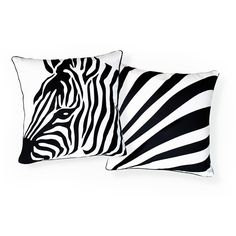 Zebra and Stripes Pillow