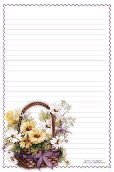 . dopisní papír, printabl stationari