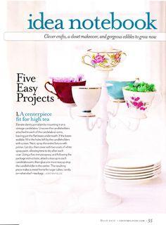 Make: Tea Cup Candelabra for a tea party