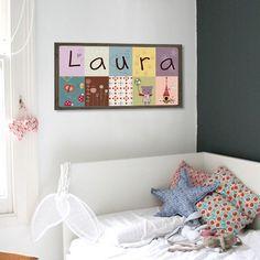 Cuadros pintados a mano decohappy on pinterest amor - Decoracion de habitaciones para ninos ...