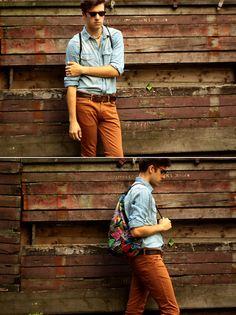 men style, bag