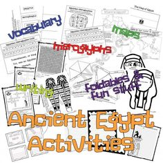 Ancient Egypt Activities product from Tangled-with-Teaching on TeachersNotebook.com