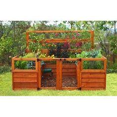 raised garden bed...cool!