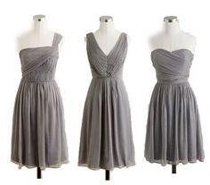 gray j crew bridesmaid dresses