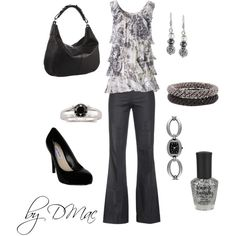 """""""Black and Silver"""" by dmac30 on Polyvore"""