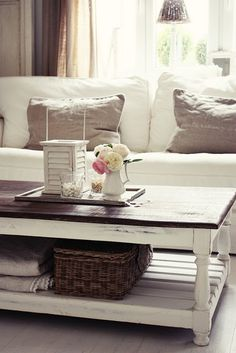 lovely rustic coffee table repainting living room table!