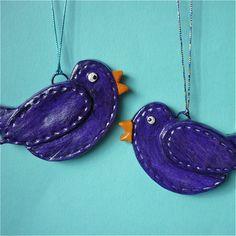 birds craft, beauti bird, red, purple, zoutdeeg, salt dough, salts, birds, cardinals