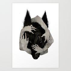 Wild Dog Art Print by Corinne Reid   Society6