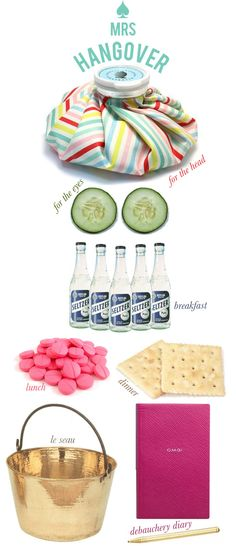 cute hangover kit
