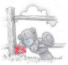 , osito nice, taddi teddi, happy birthdays, teddi bear, tatti bear, card, blue nose, nose friend, tatti teddi