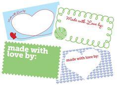 Printable Gift Tags for Your Handmade Gifts