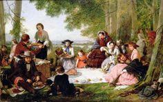 1857 A Picnic - Henry Nelson O'Neil