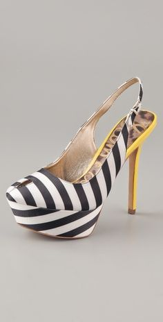 Hot stripes with yellow heel ;)