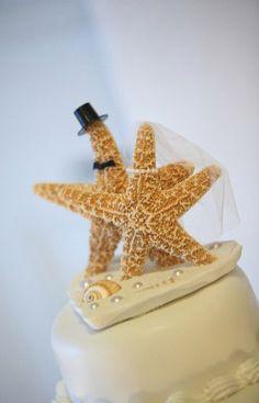 Topo de bolo... casamento na praia