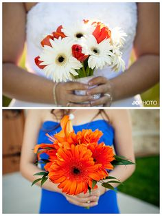 Blue & Orange wedding inspiration  http://www.JoPhotoOnline.com