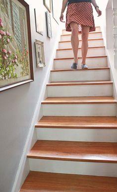 Treppe vintage streichen