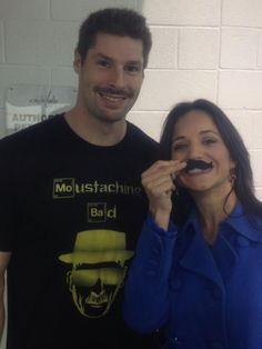 @NBCdianna showing @tbrouwer20 her @Movember growth! #Caps #Movember