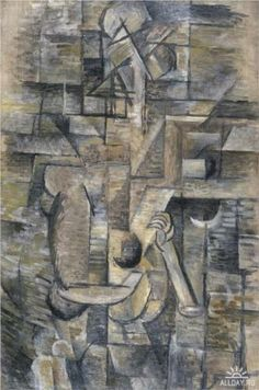 Woman with a Mandolin - Georges Braque 1910