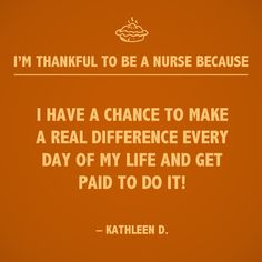 Nursing is not only a career, but a gift