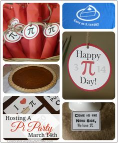 Ideas for hosting a Pi Party (3.1415) on March 14th.  Yes, we will use any excuse to party!