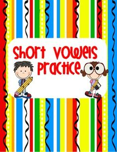 FREEBIE - Short Vowel Practice!