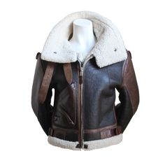 very rare BALENCIAGA fall 2003 cropped shearling aviator coat | From a collection of rare vintage coats and outerwear at http://www.1stdibs.com/fashion/clothing/coats-outerwear/