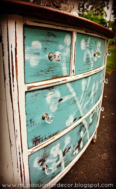 Another cute upcycled dresser. Love it!