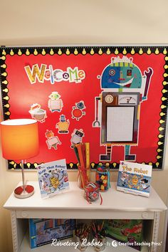 Robots are a fun theme for boys and girls this school year. See creative decor ideas in CTP's new back-to-school catalog!