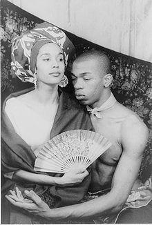 Carmen De Lavallade with husband Geoffrey Holder in 1955 -- photo by Carl Van Vechten