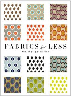 Fabrics for Less: the Ikat Polka Dot