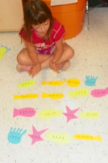 "After watching a video introduction to Carnival of the Animals students worked in workstations to practice music skills, read about Saint Saens and review the music of Carnival of the Animals. At the Aquarium Station students created ""schools"" of rhythms.  Together with their group the arranged rhythms and performed them with body percussion."