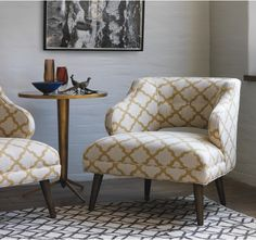 pretty patterned chairs